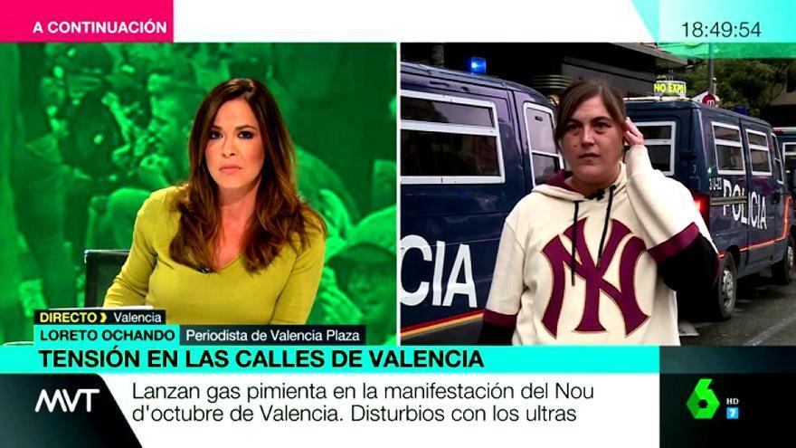 Mamen Mendizabal y Loreto Ochando, durante su entrevista en Más vale tarde