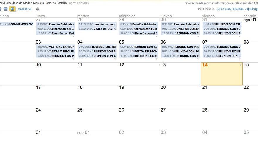 Agenda pública de Manuela Carmena