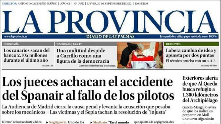 De las portadas del día (20/09/2012) #1