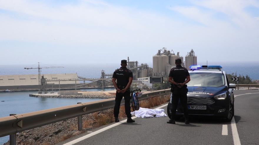 Fallece un ciclista de 60 años en una carretera del sur de Gran Canaria