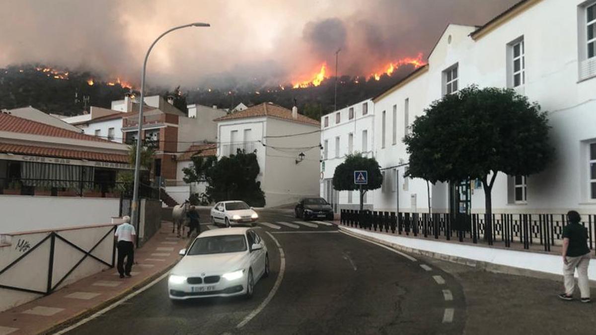 Incendio en Villaharta.