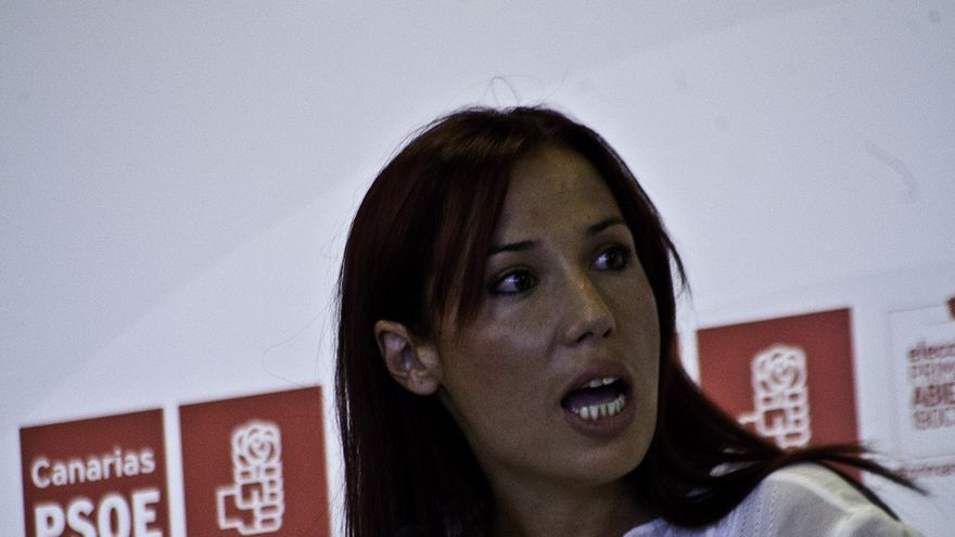 Patricia Hernández en el debate sobre las primarias del PSC. | Maya Bencomo.