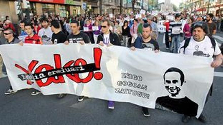 Manifestación para reclamar el esclarecimiento de los hechos.