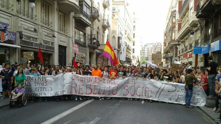Manifestación de Estudiantes de Secundaria en Valencia