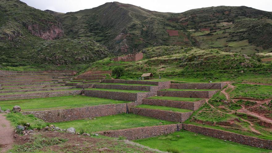 Grandes terrazas de cultivo en el Templo del Agua, una de las grandes estructuras incaicas de los alrededores del Cusco. Emmanuel DYAN