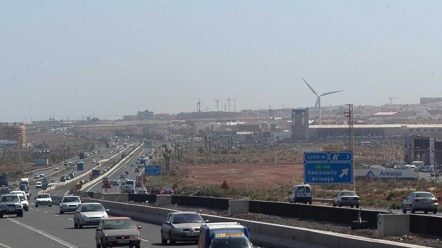 Autopista del sur de Gran Canaria.