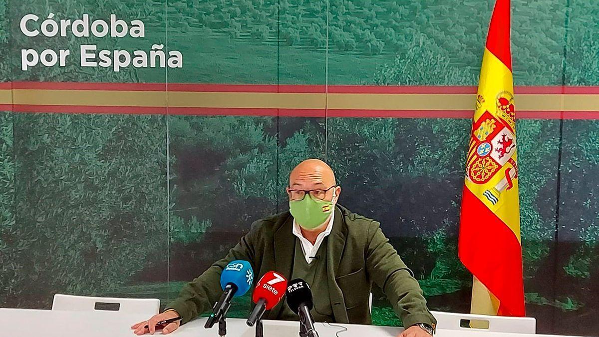 El portavoz de Vox en el Parlamento de Andalucía, Alejandro Hernández.