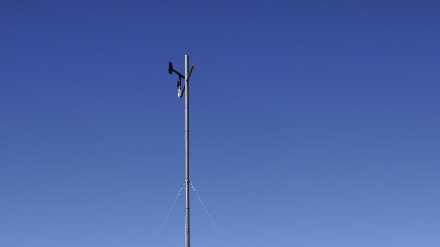 Estación meteorológica del Pico de la Cruz, en el Parque Nacional de La Caldera de Taburiente.
