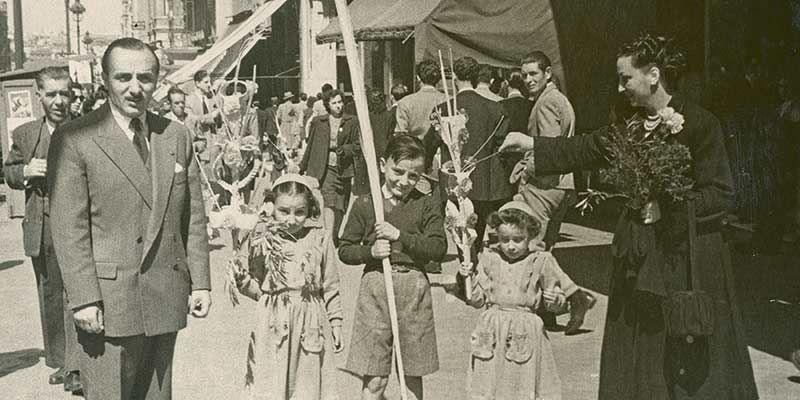 Vestidos para la Semana Santa madrileña, en 1949