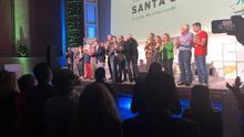 Momento del acto político de Coalición Canaria en Santa Cruz, en la noche de este jueves