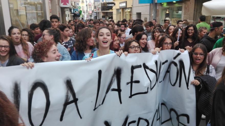 La protesta cuenta con el respaldo de la Plataforma Por la Educación Pública de Extremadura / JCD