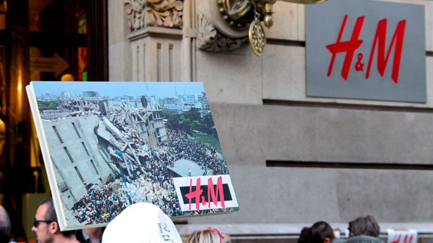 Manifestación en España en el tercer aniversario del derrumbe del Rana Plaza de Bangladesh