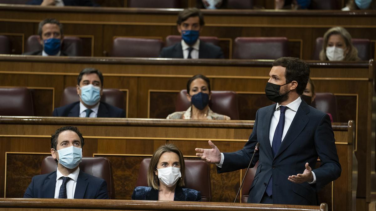 Pablo Casado, durante una intervención en el Congreso.