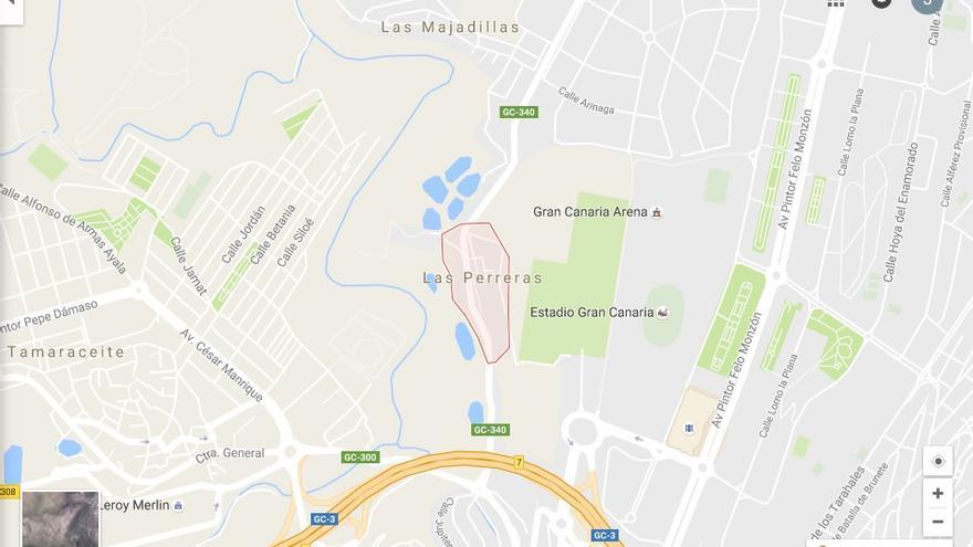 Zona de Las Perreras (Google maps)