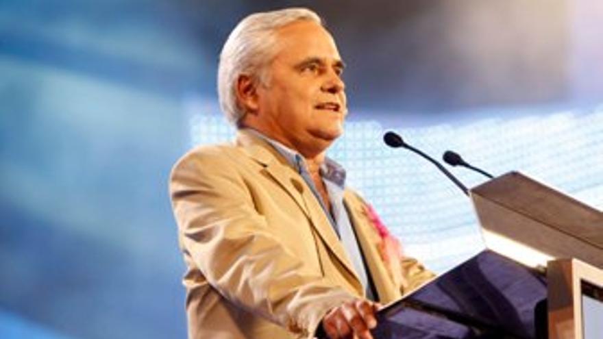Juan Cruz, durante la lectura del pregón. (ACFI PRESS)