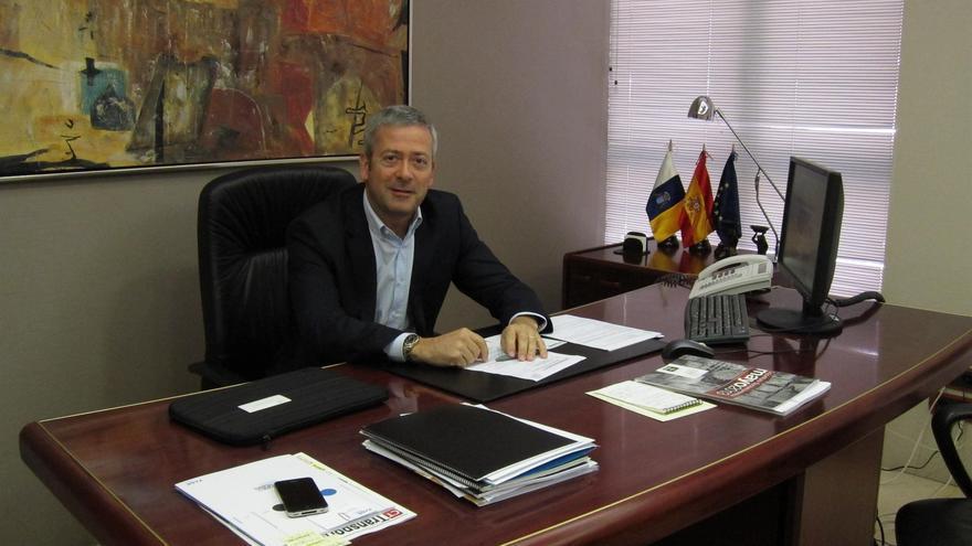 El presidente de la Confederación Canaria de Empresarios (CCE), Agustín Manrique de Lara.