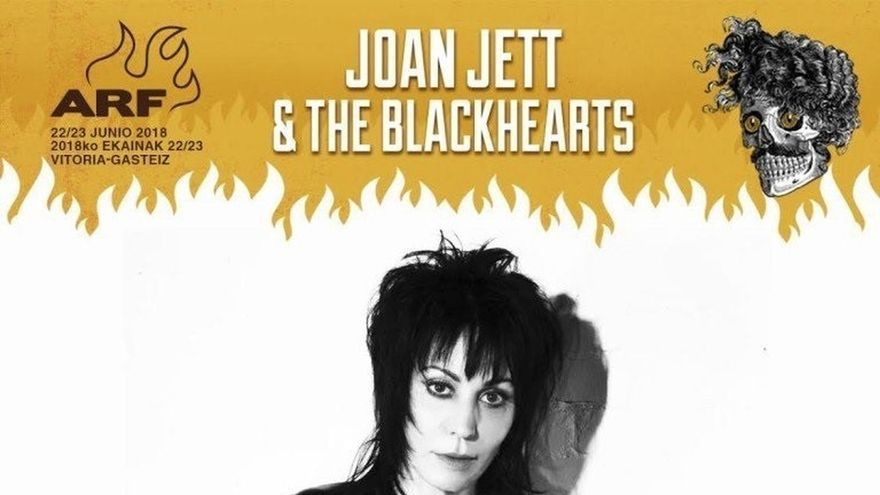 Joan Jett and The Blackhearts, primer cabeza de cartel del Azkena Rock Festival 2018