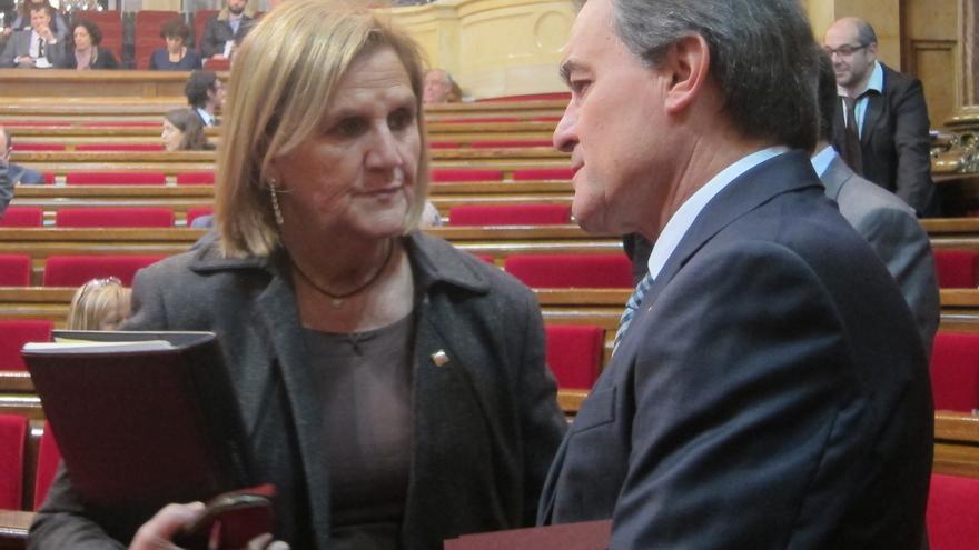Mas defiende su reunión con el líder de la Liga Norte y recuerda que Rubalcaba le recibió como ministro de Interior