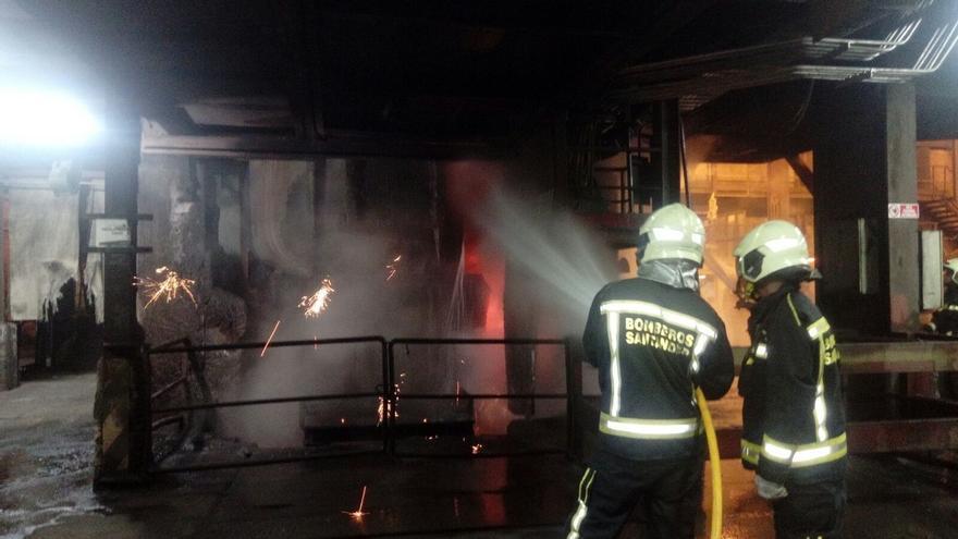 Controlada una fuga de colada en Saint Gobain que ha provocado daños en la maquinaria