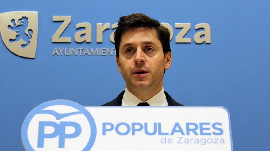 El concejal del PP en el Ayuntamiento de Zaragoza Sebastián Contín.