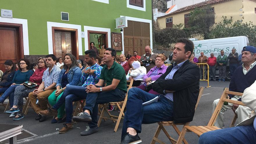 Un instante del mitin celebrado en Vallehermoso