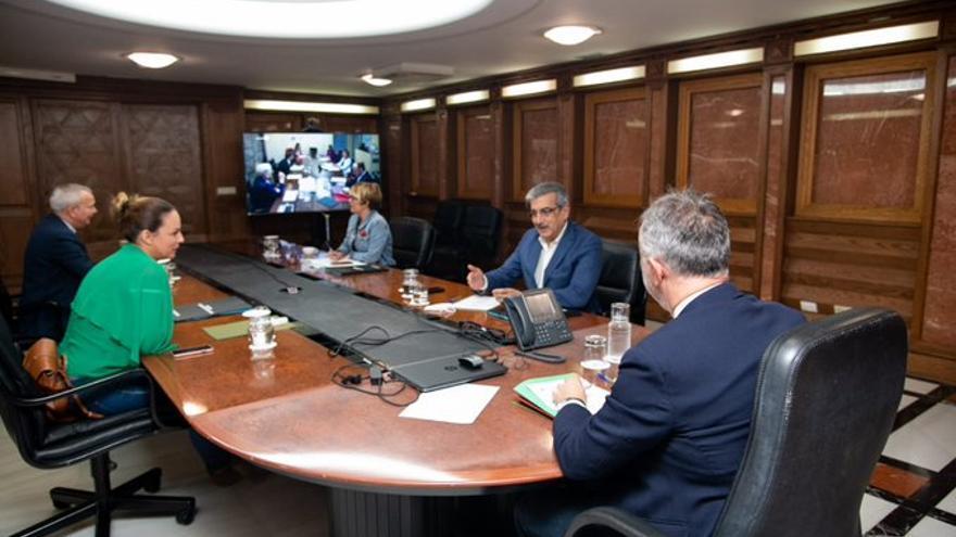 Reunión por videoconferencia del consejo de Gobierno de Canarias