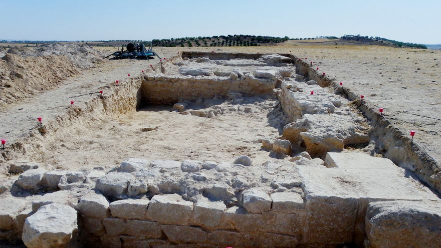 Excavaciones en la ciudad romana de Caraca (Driebes). Foto: Equipo Arqueológico Caraca-Driebes