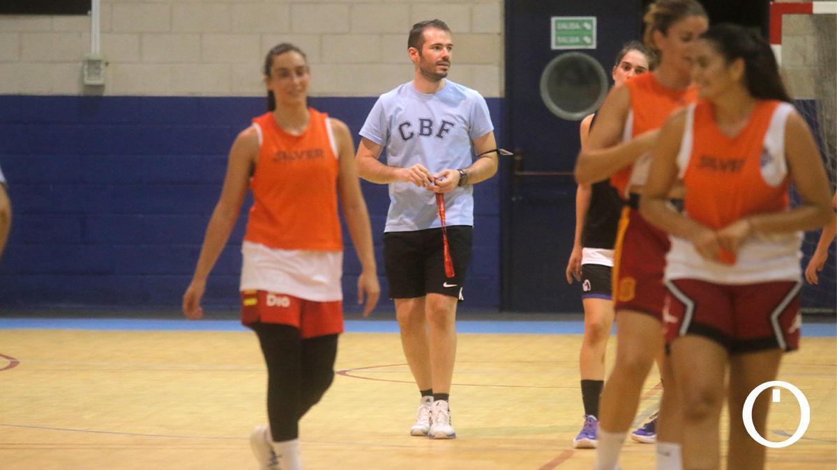 Antonio Quintero en un entrenamiento del Milar Córdoba BF