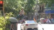 Manifestante de Vox que profirió insultos homófobos