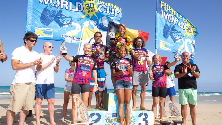 Sarah Quita y Van der Eyken, los campeones de Freestyle en Fuerteventura