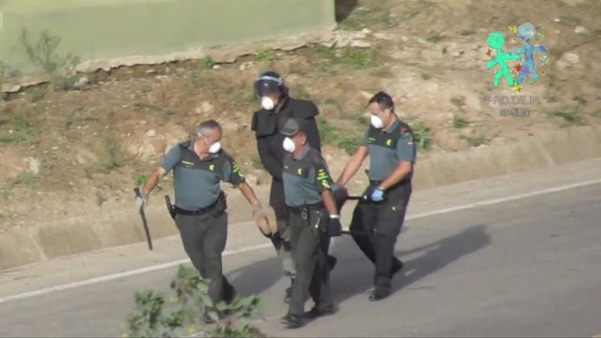 Captura del vídeo realizado por Prodein que muestra la devolución en caliente de Danny.
