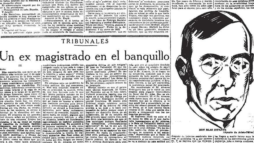 Blas Infante, en la prensa. / BIBLIOTECA NACIONAL DE ESPAÑA