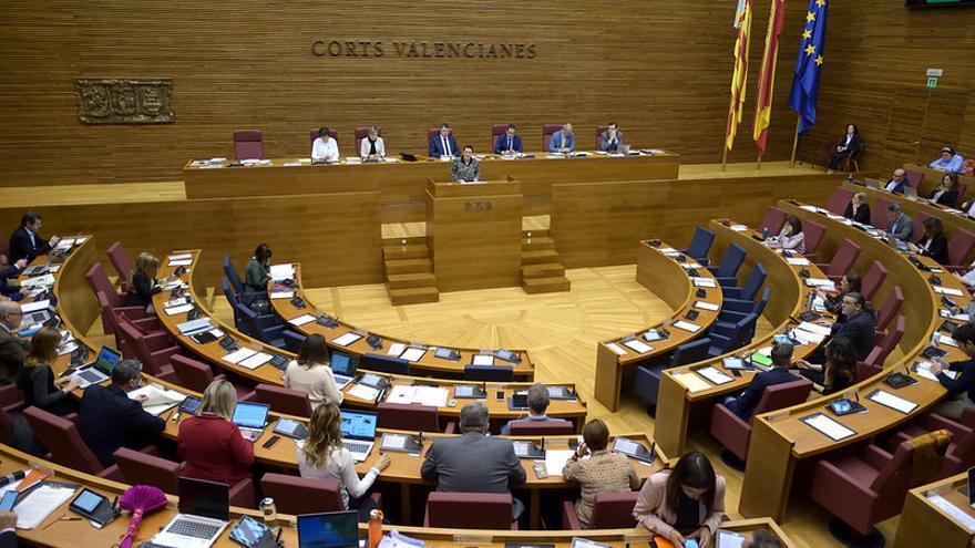 Un instante del pleno de las Corts Valencianes de este miércoles.