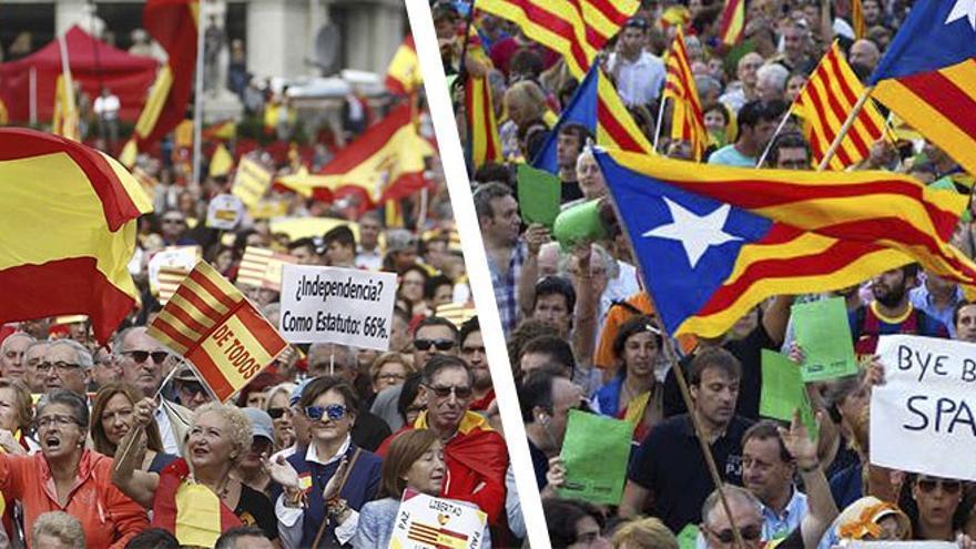 Catalunya ha quedado dividida entre españolistas e independentistas. (CA).