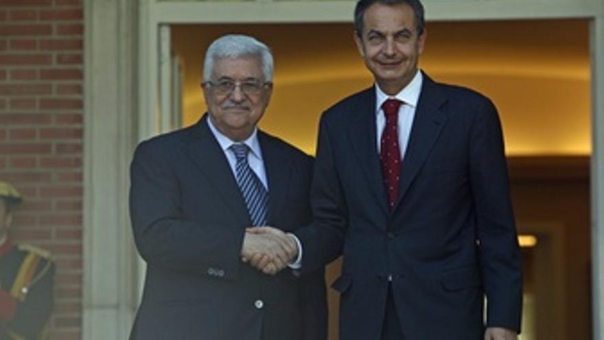 Zapatero Con Abbas