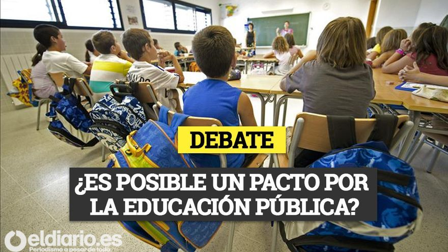 Cartel Mesa de Debate de Educación eldiario.es Cantabria