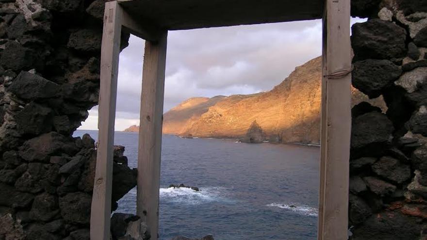 La fragata 'El Eclipse' naufragó en la costa de La Fajana, en la imagen.