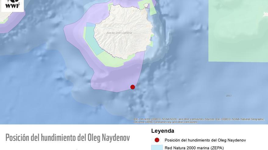 Localización del 'Oleg Naydenov'. (WWF)