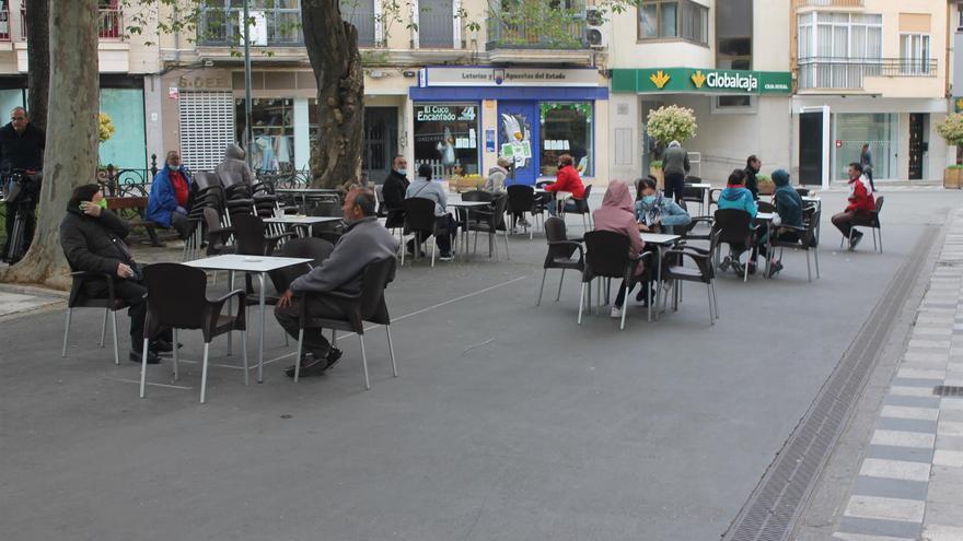 Terrazas en la Calle Carretería en Cuenca