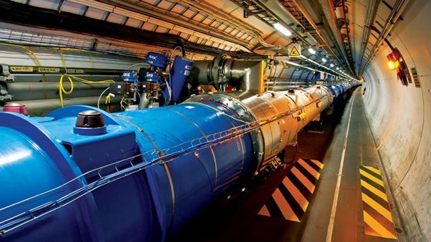 Una parte de la gran estructura del acelerador del CERN. Fuente: CERN (home.cern)