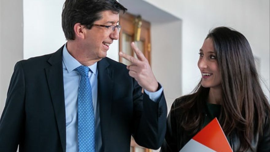 """Marín desvincula a Vox del acuerdo PP-Cs para el Gobierno andaluz, que """"con toda probabilidad"""" tendrá once consejerías"""