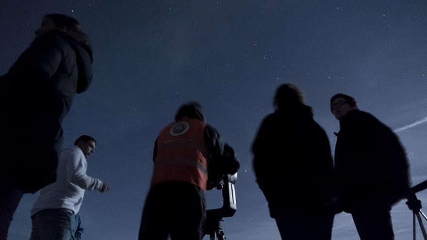 Grupo de Astrocantabria en un curso de iniciación