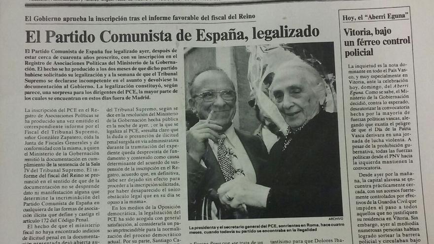 El PCE cumple mañana 40 años en la legalidad y avisa que no piensa disolverse ni en IU, ni en Unidos Podemos