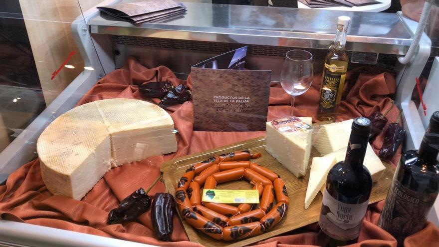 Algunas de las 'joyas' culinarias  de La Palma que se ofrecieron en  el 'Salón de Gourmets'  de Madrid.