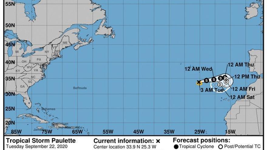 El ciclón tropical Paulette se aproxima a Canarias