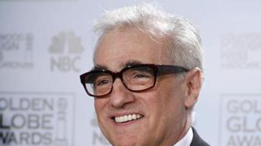 Martin Scorsese con un Globo de Oro