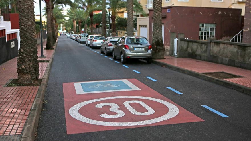 Zona de velocidad limitada en Las Palmas de Gran Canaria.