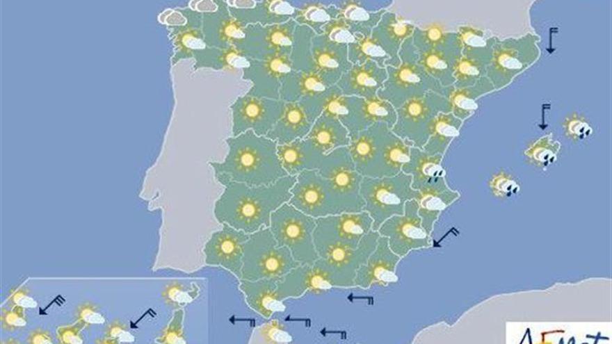 Hoy, tormentas fuertes en el sureste peninsular y Baleares