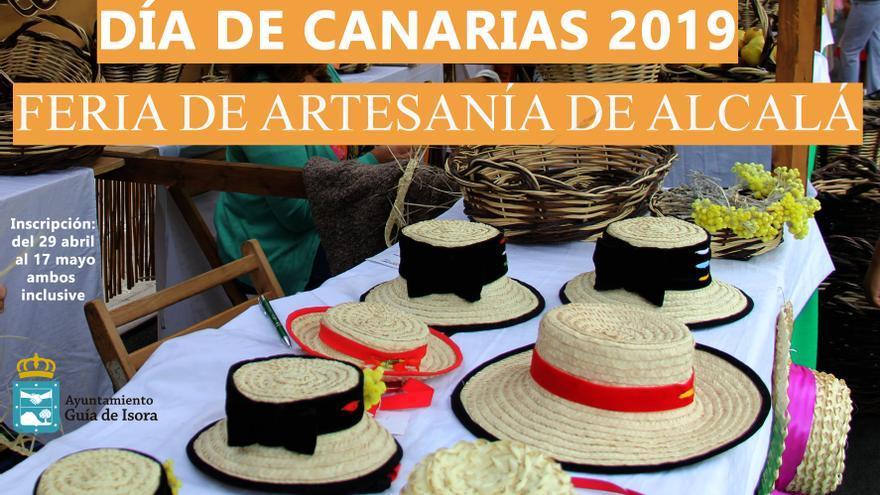 Cartel de la muestra de artesanía de este 30 de mayo, Día de Canarias, en Alcalá