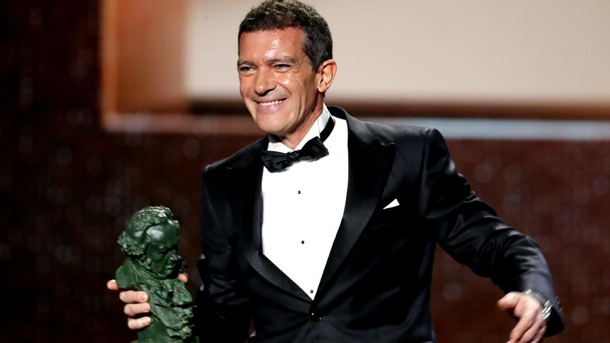 Antonio Banderas, tras recoger su Goya 2020 al Mejor actor por 'Dolor y gloria'